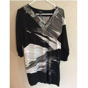 Alfani Black & White Tunic Dress